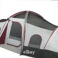10 Person 3 Room Instant Cabin Tent Large Outdoor Camping