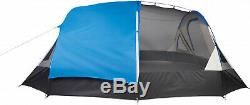 10-Person Blue/White Freestanding Tunnel Tent With Multi-Position Fly Hike Camping