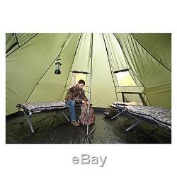 10 Person Deluxe Teepee Tent 14'x14' Waterproof Camping Outdoor, Extra Large