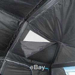 10-Person Instant Cabin Tent Dark Rest Blackout Windows Outdoor Camping