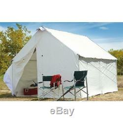 10 x 12 Canvas Wall Tent Complete Bundle with Floor & Frame Included, Large