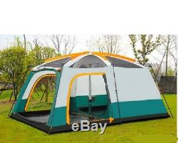 12 Man Family Camping Large Group Beach Tent Sun Protection Shelter Waterproof
