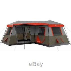 12 Person Camping Tent 3 Room Instant Cabin Outdoor Shelter Large Family Tents