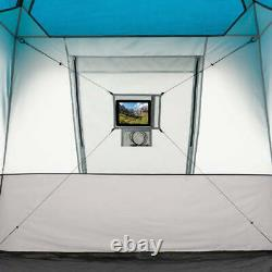 12 Person Fold Unfold Extend Extra Large Windows Dividers Instant Cabin Tent