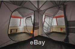 12 Person Large Family Cabin Tent 3 Rooms Instant Camping 16x16 with Carry Bag