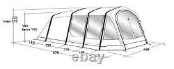 2020 Outwell Stone Lake 5ATC 5 Berth Polycotton Air Tent