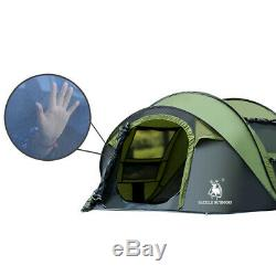 3-4 Person Man Family Tent Instant Pop Up Tent Breathable Outdoor Camping Hiking