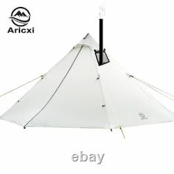 3-6 Person Ultralight Outdoor Camping Teepee 20D Silnylon Pyramid Tent Large