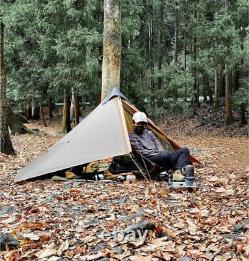 3F Lanshan Ultralight 1 Person Wild Camping Tent 15D Lightweight Khaki NEW