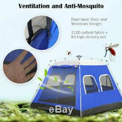 4-6 Persons Large Family Camping Tent Automatic Instant Tent Waterproof Shelters