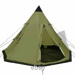 4-Person Camping Tent Hiking Tipi Outdoor Family Trip with Windows Waterproof