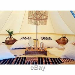 4 Season 6M Large Cotton Canvas Bell Tent Waterproof Glamping Beach +Stove Jack