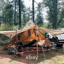 4 Season Camping Teepee Tipi 5-8Person Large Pyramid Tent Backpacking Tent Yurts