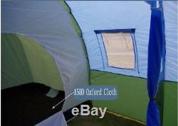 5-8 People Family Tunnel Large Camping tent Waterproof Canvas Fiberglass