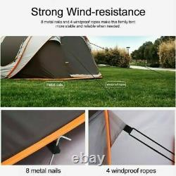 5-8 Person Automatic Pop Up Waterproof Hiking Camping Tent Double-layer Large UK