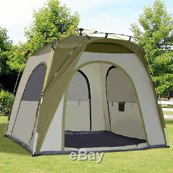 5 Man Tent AUTOMATIC POP UP DESIGN Easy Stand Campervan Awning Outdoor Set