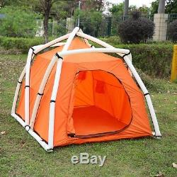 5-Person Inflatable Tent Large Space 4 Season Family Camping Trip Urban Escape