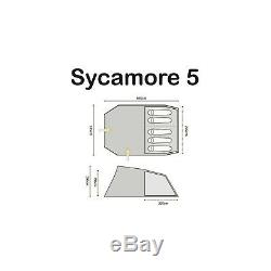 5 Person Large Family Tunnel Tent Highlander Sycamore 5 Camping Tent Meadow