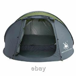 5 Person Pop Up Tent Camping Festival Hiking Shelter Family Tent Portable Green