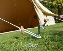 5m Bell Tent Pro Spec 320GSM Zipped in Groundsheet, UV, Water, Mould Proof