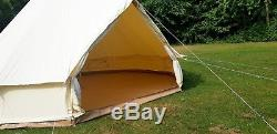 5m Canvas Bell Tent With Zipped In Groundsheet Large Family Tents