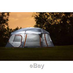 6-10 Person Tent Led Light Up Screened Canopy Heavy Duty Large Camping Big Cabin