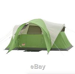 6 Man Tent Person Family Camping Vented Large Room Green Fits Queen Airbed Pop