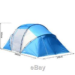 6 Person Compartment Tent Portable Large Family Camping Waterproof Easy Set Up