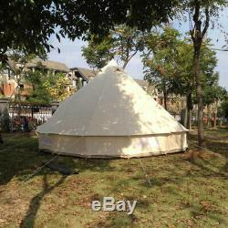 6M Outdoor Waterproof Canvas Tent Hunting Camping Tent Large Tent