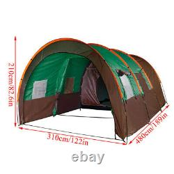8-10 Family Tents Green Waterproof Outdoor Camping Garden Party Large Room + Mat