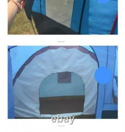 8-10 Person Large Outdoor Double Layer Tent Tunnel Camping Family Travel Tent