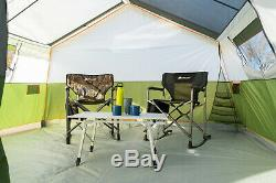8-Person Family Cabin Tent With Screen Porch + Carry Bag Outdoor Hiking Shelter