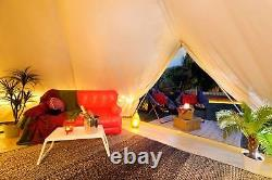 Bell Tents 5 Meter Safari Tent Canvas Glamping Beige 4 Season Stove Jacket Yurts