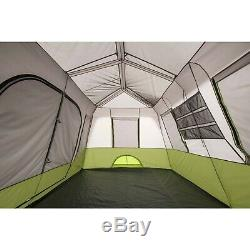 Bright Natural Light 9-Person Instant Cabin Tent with Screen Room Outdoor Camping