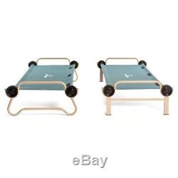 Bunkable Beds Circular Frame Sleeping Deck Camping No Tools Large Green 2 Pack