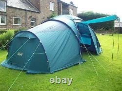 COLEMAN'Trispace' 8 person LARGE FAMILY TENT, great condition, FREE UK POSTAGE