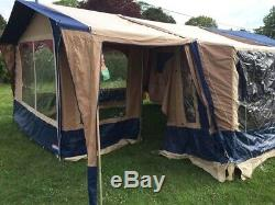 Cabanon Atlantis Trailer Tent, 4-8 berth, Large awning with porch, easy to pull