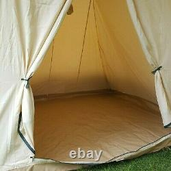 Cabanon Elzas, Cream & Green, 4 Person Classic Frame Tent 4.2 metre by 2.5 metre