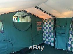 Cabanon Mistral De-Luxe Trailer Tent Large Awning Sun Canopy & Kitchen 4-8 Berth