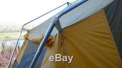 Cabin Tent Vintage Camel 10' X 8' X 6'2 Tall Aluminum Poles Large Side Windows