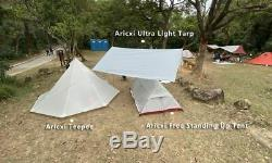 Camping 3-4 Person Ultralight Outdoor Teepee Pyramid Tent Backpacking Hiking
