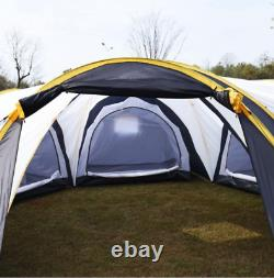 Camping Tent Hiking Large 6-9 Person 3 Rooms Outdoor Waterproof Shelter 2 Layer