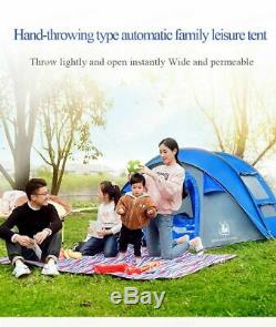 Camping Tent Large Automatic Outdoor Throwing Pop Up Waterproof Hiking 3 People