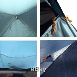 Camping Tent Waterproof Double Layer Large Pop Up Tent 3-4 Person Family Tents