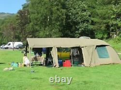 Campmor Safari Bush Combo Senior Canvas Tent with Awning extension