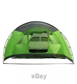 Charles Bentley 6 Person Camping Tunnel Tent Green with Grey Trim