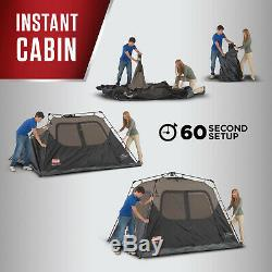 Coleman 8 person Instant Cabin Tent Easy Set Family Camping