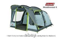 Coleman Meadowood 4 Blackout Tent Award winning Blackout bedrooms