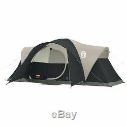 Coleman Montana 8 Person Family CAMPING TENT, 16x7 Ft 1 Room INSTANT TENT, Black
