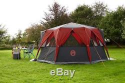 Coleman Tent Cortes Octagon Festival Camping Tent Large Dome Spacious Easy Use
